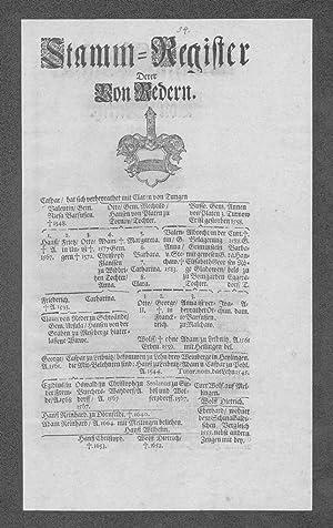Miltitz Redern Stammbaum Ahnentafel family tree Wappen coat of arms