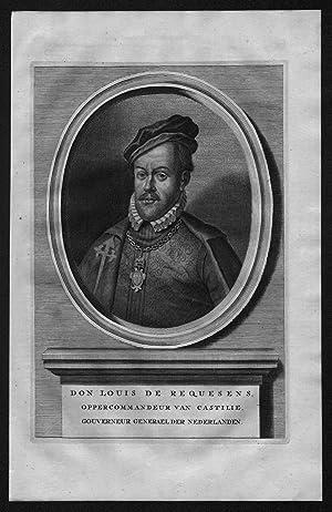 Luis de Zuniga Requesens Espana Portrait Kupferstich