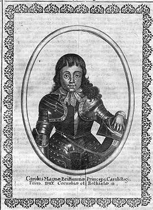 Karl II König England Charles Portrait Merian
