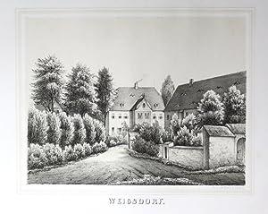Weigsdorf Bogatynia Niederschlesien Polen Poland Poenicke Lithographie
