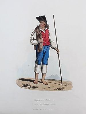 Torres Vedras - Portugal Estremadura costumes Tracht Aquatinta mezzotint