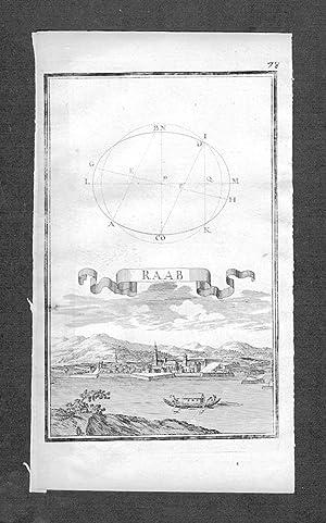 Györ Raab Ungarn Hungary Kupferstich engraving Birckenstein