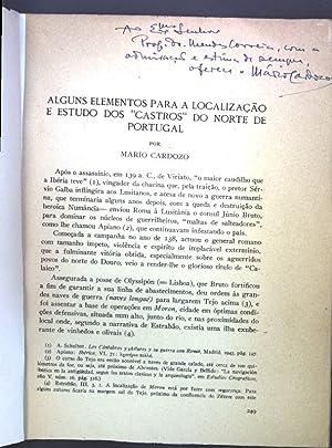 """Alguns Elementos para a Localizacao e Estudo dos """"Castros"""" do norte de Portugal; (..."""