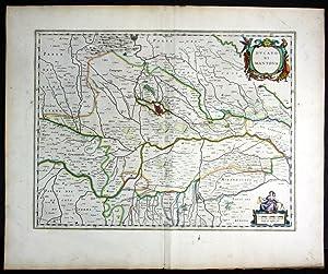 "Ducato di Mantova"" - Blaeu Karte map mappa: Blaeu, Willem (1571-1638) und Jan (1596-1673) Blaeu:"