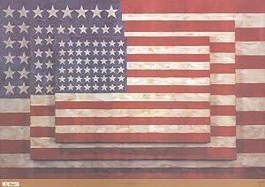 """JASPER JOHNS Three Flags 25.75"""" x 37"""": Johns, Jasper"""