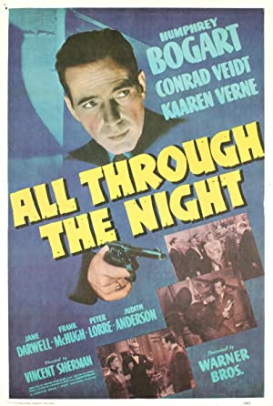 """All Through the Night 29"""" x 19.5"""" Lithograph 1975 Vintage Blue, Yellow: Unknown"""