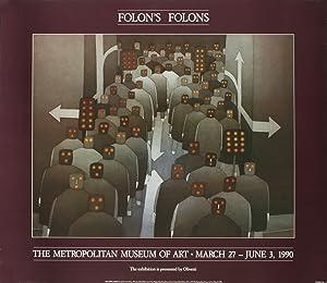 "JEAN-MICHEL FOLON The Crowd 26"" x 30"": Folon, Jean-Michel"