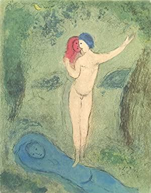 "Marc Chagall Daphne and Chloe 12.5"" x 10"" Book 1977 Modernism Blue, Green Nude, Woman: ..."
