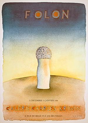 """JEAN-MICHEL FOLON Galerie Charles Kriwin 25.5"""" x: Folon, Jean-Michel"""