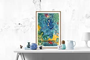 "MARC CHAGALL The Magic Flute (Die Zauberflote) 40"" x 26"" Lithograph 1967 Modernism ..."