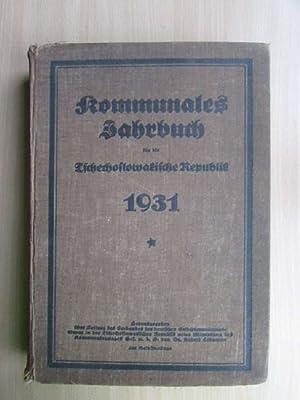 Kommunales Jahrbuch für die Tschechoslowakische Republik: Lodgman, Rudolf: