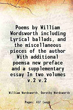 Poems by William Wordsworth: : including Lyrical: Wordsworth, William, -,Wordsworth,