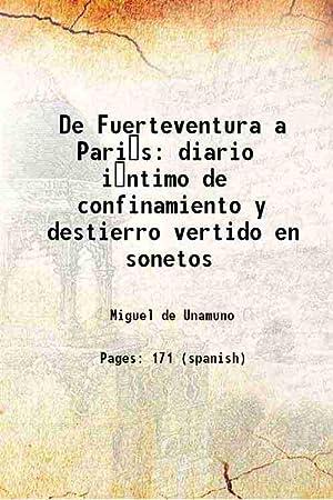 De Fuerteventura a Pari s diario i ntimo de: Miguel de Unamuno