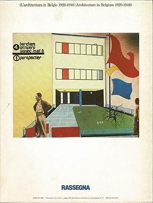 L'architettura in Belgio 1920-1940. Architecture in Belgium 1920-1940.: Rassegna no. 34.