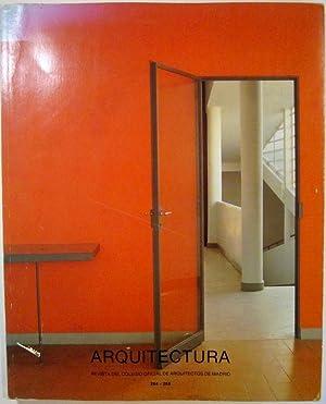 Arquitectura 264-265. Revista del colegio oficial de arquitectos de Madrid: N/A