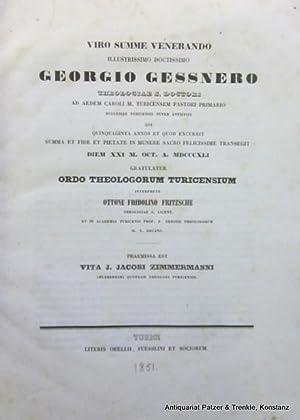 Vita J. Jacobi Zimmermanni. Zürich, Orell, Füssli: Zimmermann, Johann Jakob.