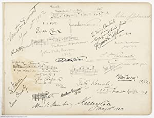 Fine Pair of leaves from an Autograph Album, (John Philip, 1854-1932, American Composer), MARCONI...