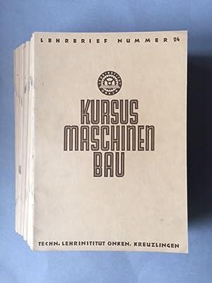 Kursus Maschinenbau - Lehrbrief Nummer 1 bis 24 + Sachregister / Formel- und Tabellenverzeichnis (...