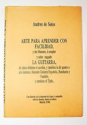 Arte Para Aprender Con Facilidad, y Sin: Sotos, Andrés De