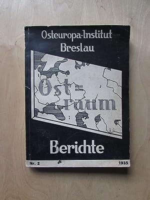 Ostraum-Berichte (Heft 2, 1935): Günther, Oskar Eugen: