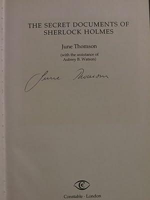 "The Secret Documents of Sherlock Holmes "" Signed "": Thomson, June"