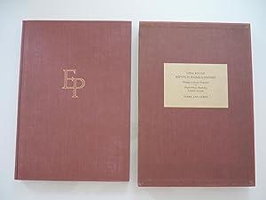 Dyptych Rome- London. Homage to Sextus Propertius: Ezra Pound