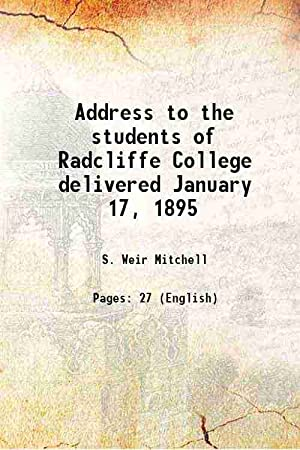 Address to the students of Radcliffe College: S. Weir Mitchell