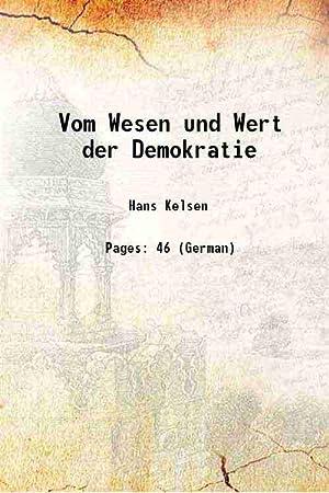 Vom Wesen und Wert der Demokratie (1920)[HARDCOVER]: Hans Kelsen