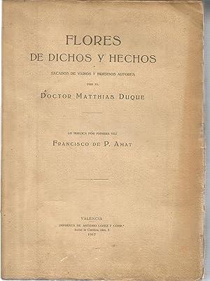 Flores de dichos y hechos sacados de: DUQUE, MATTHIAS
