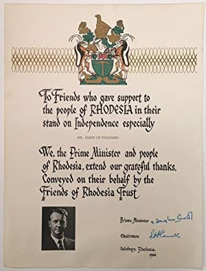 Rare Ornately Printed Poster signed by the Prime Minister