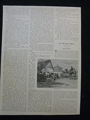 orig. Holzstich Ankunft im Dorfe, Einzug ins Städchen & Die Vorstellung - insgesamt 3 Ansichten...