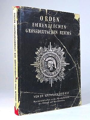 Die Auszeichnungen des Grossdeutschen Reichs. Orden, Ehrenzeichen,: Doehle, Heinrich.
