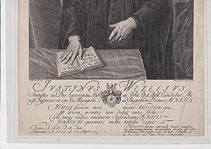 Portrait etching depicting Justinus Wetzel Wetzellus]