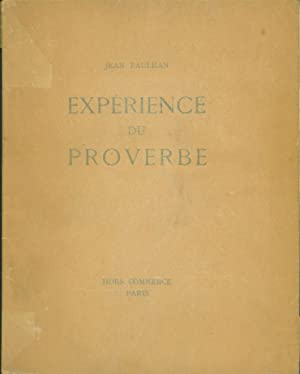 Experience du proverbe: Paulhan, Jean
