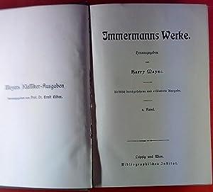 Immermanns Werke. BAND 2: Münchhausen (3 und 4 Teil): Harry Maync