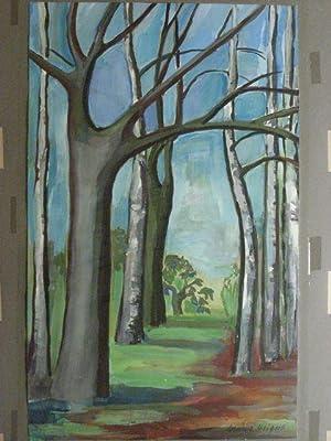 Kahle Bäume im Vorfrühling.: Weigert, Wendel:
