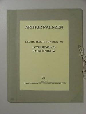 """Sechs Radierungen zu Dostojewski`s Raskolnikow(""""). Die Mappe wurde vom Kupferdrucker Anton ..."""
