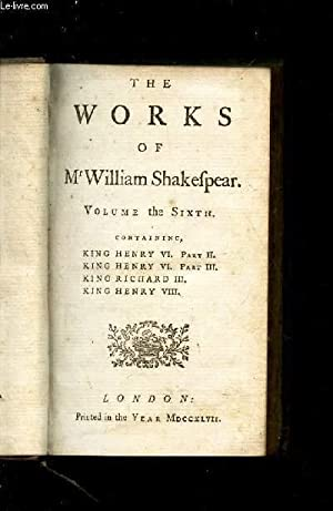 THE WORKS OF Mr WILLIAM SHAKESPEAR -: SHAKESPEARE WILLIAM