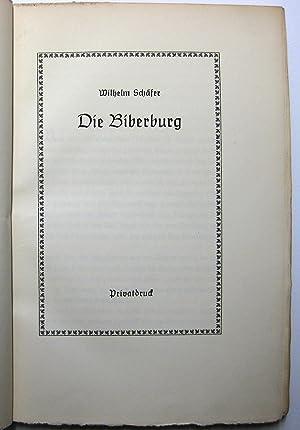 Die Biberburg: Schäfer, Wilhelm