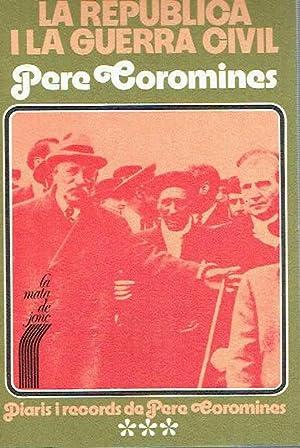 Diaris i records de Pere Coromines, III.: Pere Coromines.