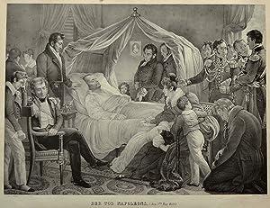 """Der Tod Napoleons. ( den 5ten May 1821)"""".: NAPOLEON I. Bonaparte (1769-1821) Kaiser von ..."""