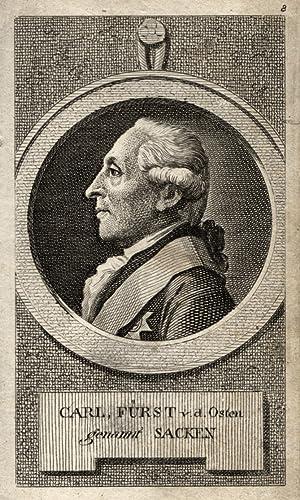 Donbangen/Kurland 17. 10. 1726 - 31. 12. 1794 Berlin). Geheimer Staats- und Kriegsminister. ...
