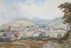 """Ischel [!], Austria"""". Aquarell.: Callow, William, Maler"""
