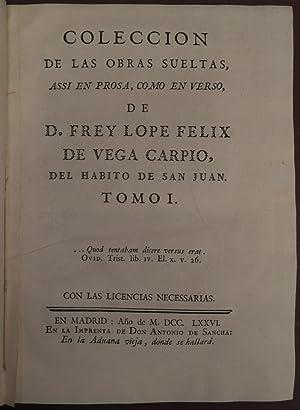 COLECCION DE LAS OBRAS SUELTAS, ASSI EN: Lope de Vega