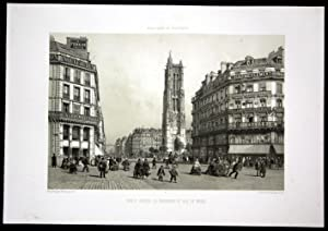 "Tour St Jacques la Boucherie et Rue de Rivoli"" - Eglise Saint Jacques de la Boucherie Paris ..."