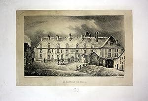 """Le Chateau de Blois"""" - Chateau de Blois Schloss castle France Frankreich Lithographie Litho ..."""