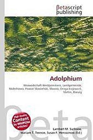 Adolphium: Lambert M. Surhone