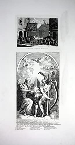 "Masquarades and Opera"" - Maskenball Maskerade Oper Engel angel Radierung etching: Hogarth, ..."