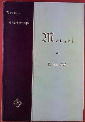 Künstler-Monographien. Menzel. Liebhaber-Ausgabe: H. Knackfuß