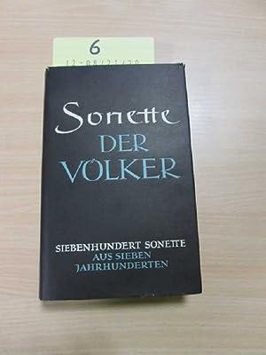 Sonette der Völker - 700 Sonette aus 7 Jahrhunderten: Busch, Karl Theodor: